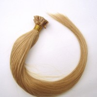 16-24 Inch Straight Nail Tip Remy Hair Extensions #27 Strawberry Blonde