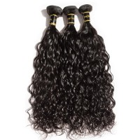 "10A 12""/14""/16"" Virgin Hair Natural Wavy 3 Bundles Sample"