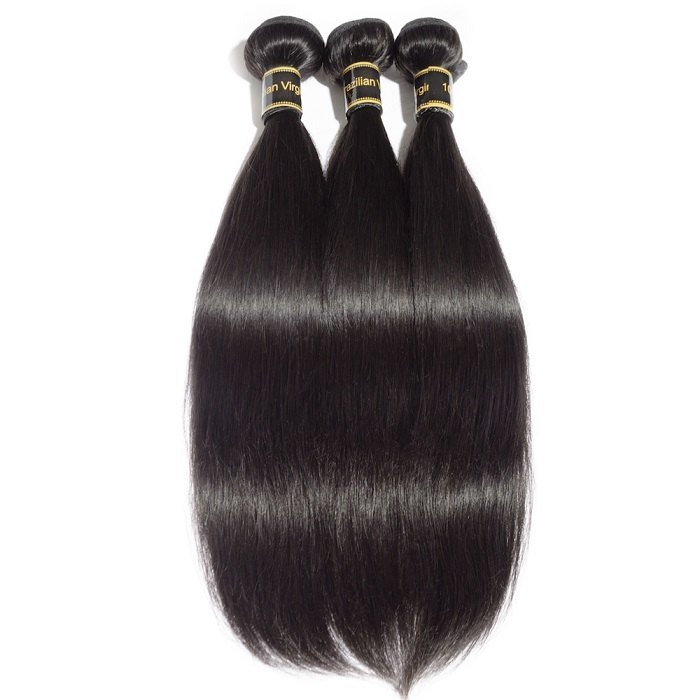"10A 12""/14""/16"" Virgin Hair Straight 3 Bundles Sample"