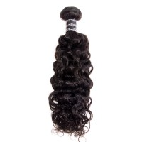 10-30 Inch Italy Curly Virgin Brazilian Hair #1B Natural Black