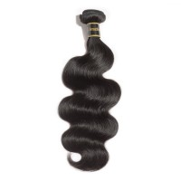 10-30 Inch Body Wavy Virgin Brazilian Hair #1B Natural Black