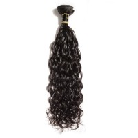 10-30 Inch 7A Natural Wavy Virgin Brazilian Hair #1B Natural Black