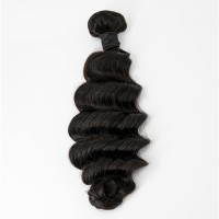 14-26 Inch Ocean Wavy Virgin Brazilian Hair #1B Natural Black