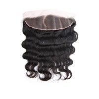 10-20 Inch Pre Plucked C Part Lace Frontal 13x4 Brazilian Hair Body Wavy #1B Natural Black