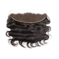 "10-20 Inch 13"" x 4"" Body Wavy Free Parted Frontal #1B Natural Black"