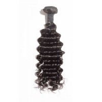 10-30 Inch Deep Curly Virgin Indian Hair #1B Natural Black