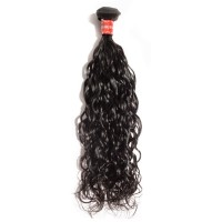 10-30 Inch Natural Wavy Virgin Malaysian Hair #1B Natural Black