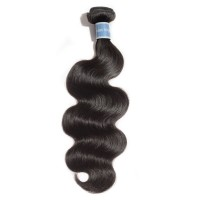10-30 Inch Body Wavy Virgin Peruvian Hair #1B Natural Black