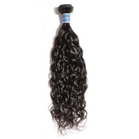 10-30 Inch Natural Wavy Virgin Peruvian Hair #1B Natural Black