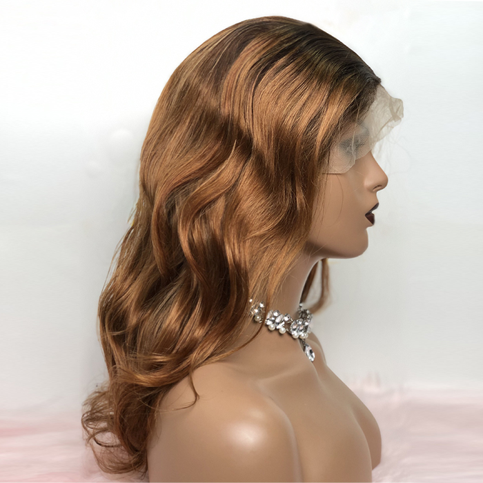 """18-24 Inch Pre-Plucked 13""""x4"""" Lace Front Body Wavy Wig Human Hair Free Part 150% Density"""
