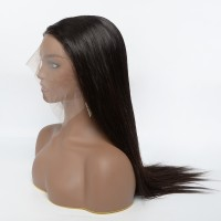 """18-22 Inch 13""""x6"""" 3D Cap Transparent Lace Front Straight Wig 150% Density"""