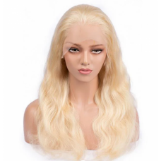 """16-24 Inch Pre-Plucked 13""""x4"""" Lace Front #613 Body Wavy Wig 150% Density"""