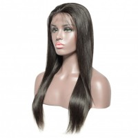 """16-28 Inch Pre-Plucked 13""""x4"""" Lace Front Straight Wig Human Hair Free Part 150% Density"""