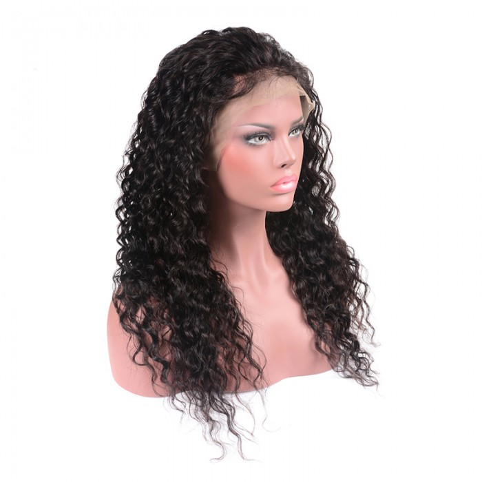 16 -28  Inch 13x6 Lace Front Wig Pre-Plucked 150% Density Water Wavy Human Hair Free Part