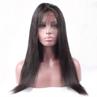 360 Lace Frontal Wig 150% Density Straight Virgin Hair