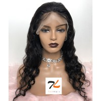 """18-24 Inch Pre-Plucked 13""""x4"""" Lace Front Loose Deep Wig Human Hair Free Part 150% Density"""