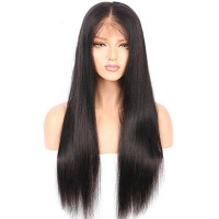 14-24 Inch 13x6 Frontal Lace Wig 150% Density Straight Virgin Hair