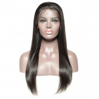 Undetectable Transparent 13x6 Frontal Lace Wig 150% 10-22 Inch Straight