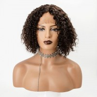 T-Part Frontal Lace Wig Human Hair 10 inch Deep Curly