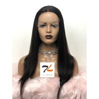 18-24 Inch Straight T-Part Lace Front Wig Human Hair Middle Part