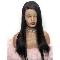 18-24 Inch Straight T-Part Lace Front Wig Human Hair Side Part