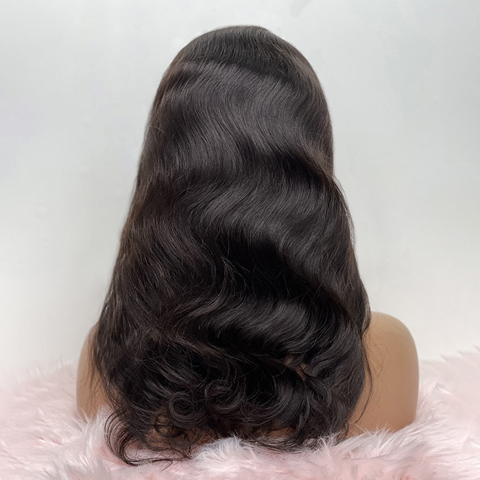 18-24 Inch Body Wavy T-Part Lace Front Wig Human Hair Side Part