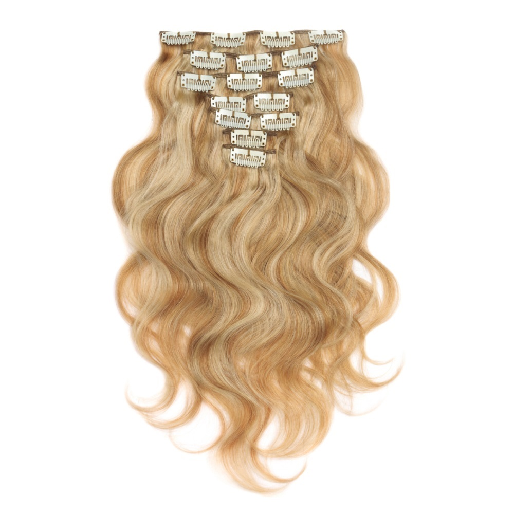 16 To 26 Inch 27613 10pcs Body Wave Clip In Human Hair Extensions