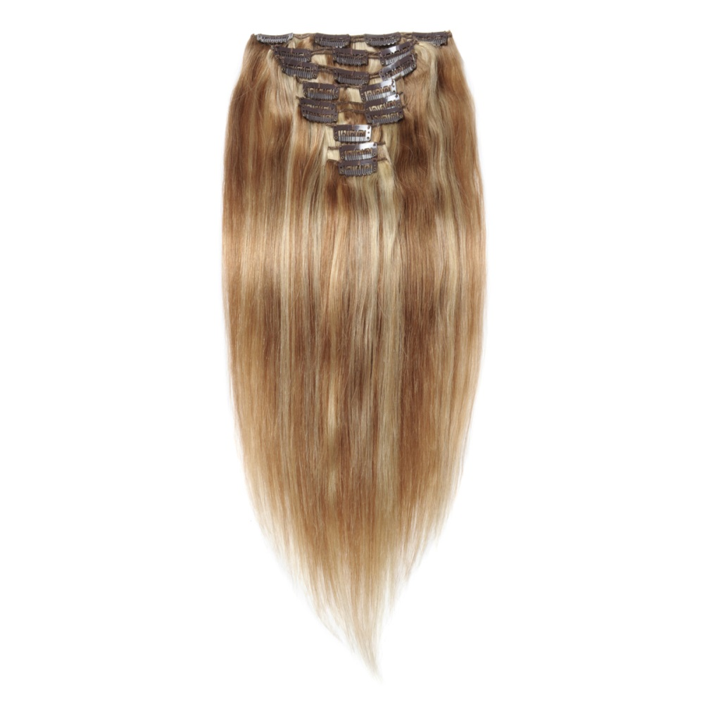 16 To 26 Inch 27613 10pcs Straight Clip In Human Hair Extensions